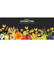 autumn harvest rich banner realistic vector image vector image