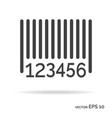 barcode outline icon black color vector image vector image