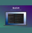 bash programming language vector image vector image