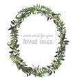 beautiful leafy frame wreath eucalyptus vector image vector image