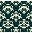Beige on green seamless floral pattern vector image vector image