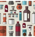 Big set of store products pattern vector image vector image