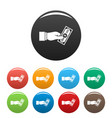 bribery give money icons set color vector image vector image