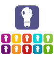 broken lightbulb icons set flat vector image vector image