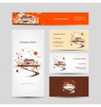 Business cards design with retro house sketch vector image