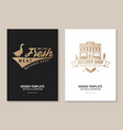 butcher meat shop badge or label with goose and vector image vector image