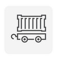 carg container icon vector image vector image