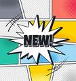 cartoon theme comic template vector image vector image