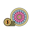 casino roulette isolated icon vector image vector image