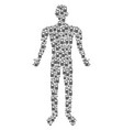 cell phone man figure vector image