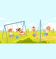 children rope swings funny kids play outdoor vector image vector image