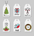 christmas and new year gift tags shopping tags vector image