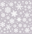Christmas seamless pattern with white snowflakes