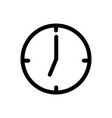 clock icon eps10 vector image