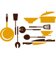 cooking utensils vector image vector image