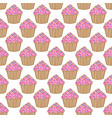 cupcake pattern pink background vector image vector image