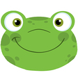 Cute Frog Smiling Head vector image