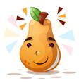 cute pear - cartoon characters vector image vector image