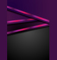dark purple abstract background with neon stripes vector image
