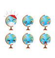 earth globe emoticons vector image