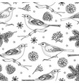 elegant hand drawn christmas seamless pattern with vector image