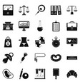 estimation icons set simple style vector image vector image