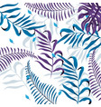 exotic branches plants with tropical leaves vector image vector image