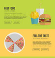 fast food banner unhealthy fast food vector image vector image