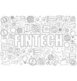 Fintech background from line icon