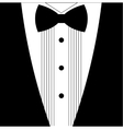 Flat black and white tuxedo bow tie vector image