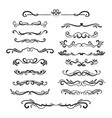 flourishes vintage ornamental borders and vector image vector image