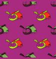 funky beetle seamless pattern vector image