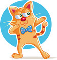 funny cat dabbing cartoon vector image vector image
