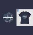 geometric mens t-shirt design graphic print vector image vector image
