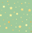 golden stars seamless pattern the image vector image vector image