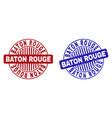grunge baton rouge textured round stamp seals vector image vector image