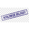 grunge worldwide delivery rectangle stamp vector image vector image