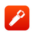 hand flashlight icon digital red vector image vector image