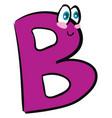 happy letter b alphabet emoji or color vector image vector image