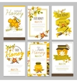 Honey Hand Drawn Posters Collection vector image vector image