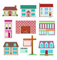 house set colourful home icon collection vector image