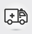 icons ambulance medical icon filled line for any vector image