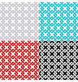 intersected chain squares seamless pattern set vector image vector image