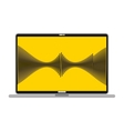laptop with musical waves isolated icon design vector image