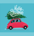 merry christmas themed vector image vector image