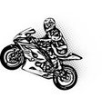 motorcycle racer vector image vector image