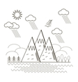 Mountain Linear Background vector image