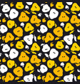 pear fruit seamless pattern for fabric background vector image