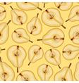 pear half pattern vector image vector image