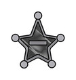 police badge star shape vector image